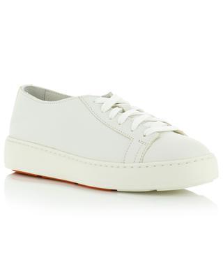 Grained leather sneakers SANTONI