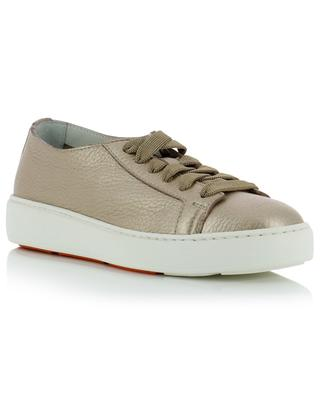 Metallic grained leather sneakers SANTONI