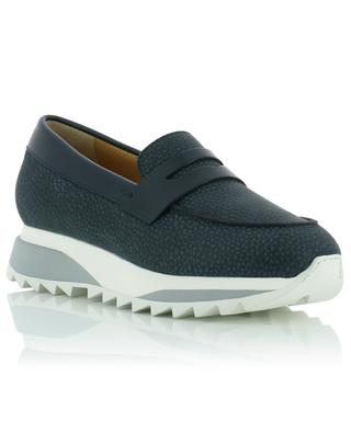 Keil-Sneakers aus genarbtem Leder SANTONI
