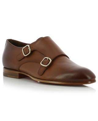 Leather monk-strap derby shoes SANTONI