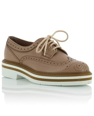 Grained leather derbies SANTONI