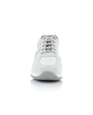 Sneakers aus Stoff und Wildleder Interactive H Strass HOGAN