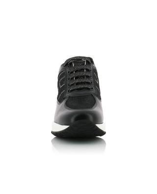 Sneakers aus Leder und Glitter Interactive HOGAN
