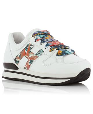 H222 Botanical floral detail leather sneakers HOGAN