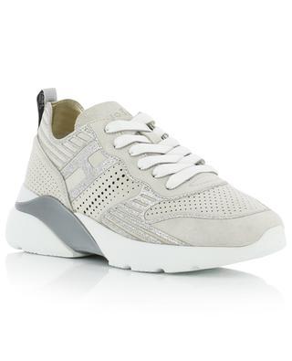 Glitter-Sneakers aus Wildleder H385 Active One HOGAN