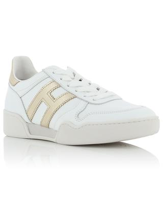 H357 Retro Volley white and gold leather sneakers HOGAN