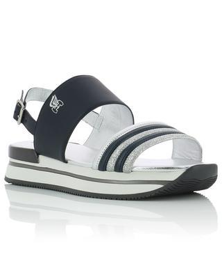 Sandales en cuir rayure pailletée H257 HOGAN