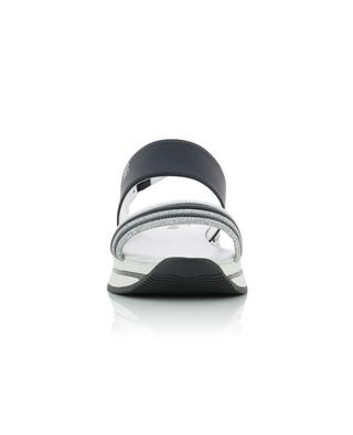 H257 leather sandals with glitter stripes HOGAN