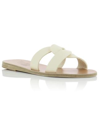 Desmos leather slides ANCIENT GREEK SANDAL