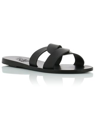 Desmos leather slides ANCIENT GREEK SANDALS