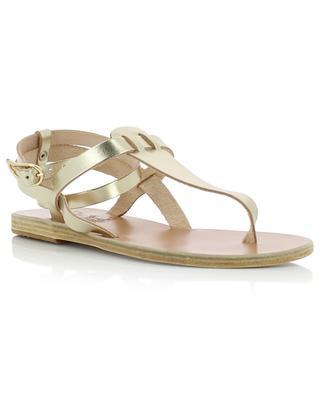Estia metallic leather sandals ANCIENT GREEK SANDAL