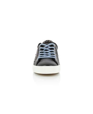 Faith Lo leather sneakers with leopard detail CRIME