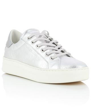 Sneakers aus silbernem Leder Sonik CRIME