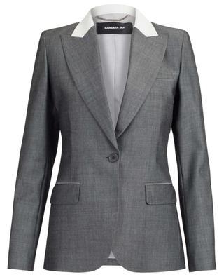 Cinched blazer with leather collar BARBARA BUI