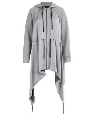 Sweat-shirt bi-matière détail satin rayé BARBARA BUI