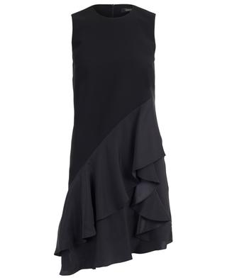 A-förmiges kurzes Kleid mit Satinvolants BARBARA BUI