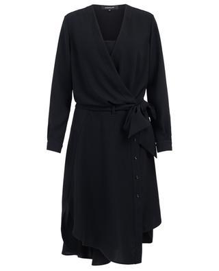 Short wrap dress with button-down skirt BARBARA BUI
