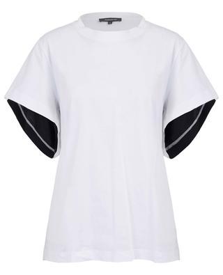 Round back T-shirt with silk yoke BARBARA BUI