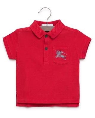 Mini Grant embroidered cotton polo shirt BURBERRY