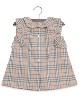Robe et bloomer motif Check BURBERRY
