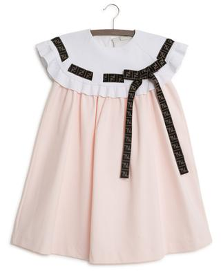 A-förmiges Kleid mit Rüschen Double F FENDI
