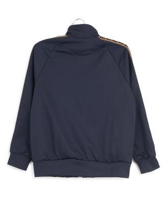 Sweat-shirt zippé en tissu technique FF FENDI