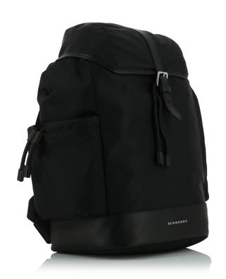 Technical nylon and leather backpack BURBERRY