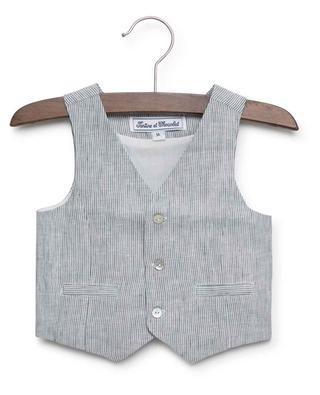 Cérémonie striped linen vest TARTINE ET CHOCOLAT