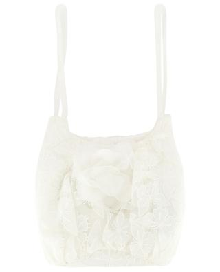 Marie butterfly embroidered tulle handbag CHARABIA