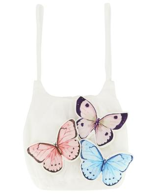 Nelly butterfly embroidered tulle handbag CHARABIA