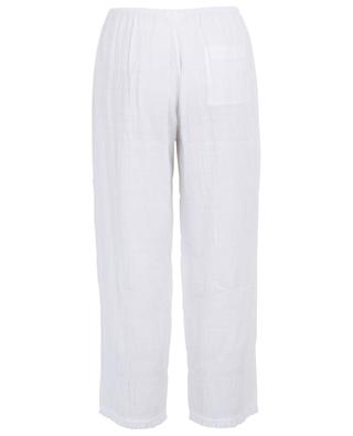 Nicolette textured cotton trousers SKIN