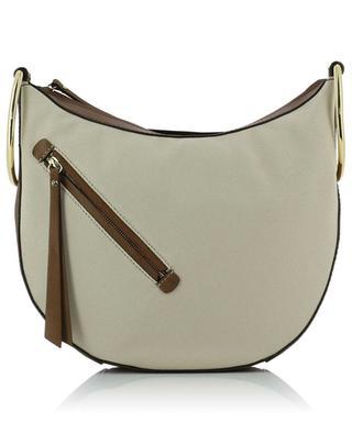 Eva canvas and leather shoulder bag GIANNI CHIARINI