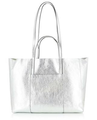 Superlight metallic leather tote bag GIANNI CHIARINI