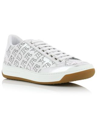 Timsburry silver logo perforated sneakers BURBERRY