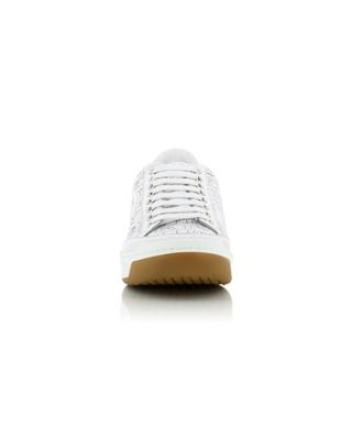 Silberne Sneakers mit Logoperforation Timsburry BURBERRY