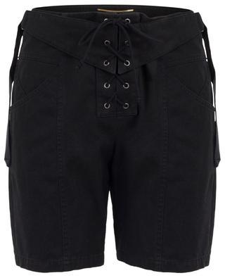 Cotton and ramie shorts with lacing SAINT LAURENT PARIS