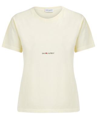 T-shirt fin en coton Saint Laurent Rive Gauche SAINT LAURENT PARIS