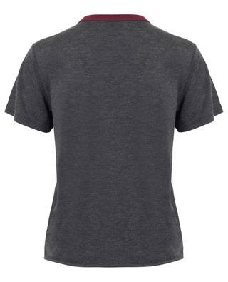 T-shirt à col rond contrasté Saint Laurent Université SAINT LAURENT PARIS