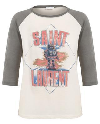 T-shirt à manches raglan imprimé Saint Laurent Robot SAINT LAURENT PARIS