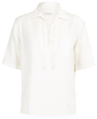 Bandana jacquard short sleeved tunic SAINT LAURENT PARIS