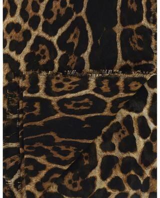 Leopard print cashmere and silk shawl SAINT LAURENT PARIS