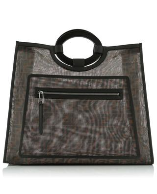 Runaway Large logo net shopping bag FENDI