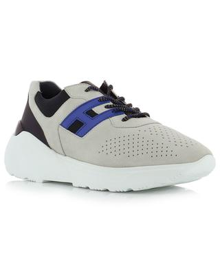 H443 Active One suede, fabric and leather sneakers HOGAN