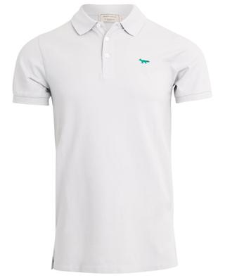Fox embroidered piqué cotton polo shirt MAISON KITSUNE