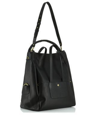 Gaspard large grained leather bag JEROME DREYFUSS