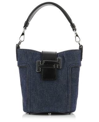 Bucket-Tasche aus Denim Tod's Double T Mini TOD'S