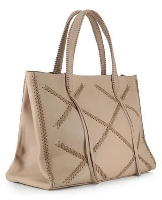 Iconic Cross Tote grained leather bag CALLISTA