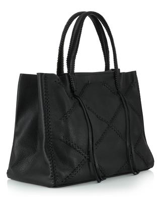 Iconic Cross Tote grained leather tote bag CALLISTA