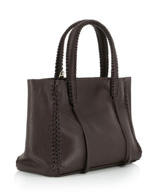Pecan Wine Mini grained leather bag CALLISTA