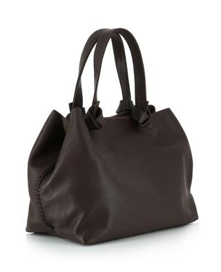 Iconic Knot grained leather tote bag CALLISTA